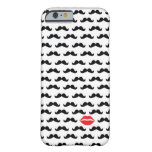 Funny mini mustache with lips for your phone!! barely there iPhone 6 case