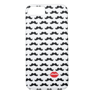 Funny mini mustache with lips for your phone!! iPhone 7 case