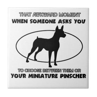 Funny miniature pinscher designs ceramic tile