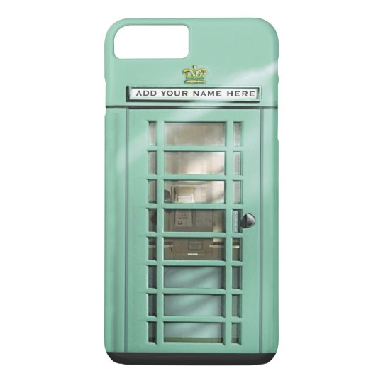 Funny Mint Green British Phone Booth iPhone 8 Plus/7 Plus Case