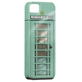 Funny Mint Green British Phone Box Personalized iPhone 5 Cases