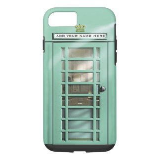 Funny Mint Green British Phone Box Personalized iPhone 8/7 Case