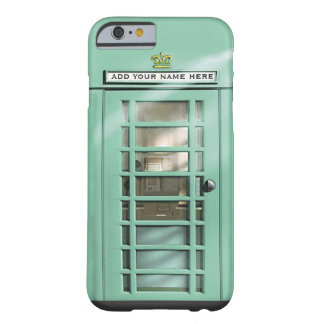Funny Mint Green British Phone Box Personalized iPhone 6 Case