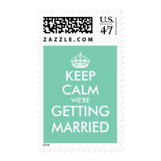 Funny mint keep calm engagement party stamps