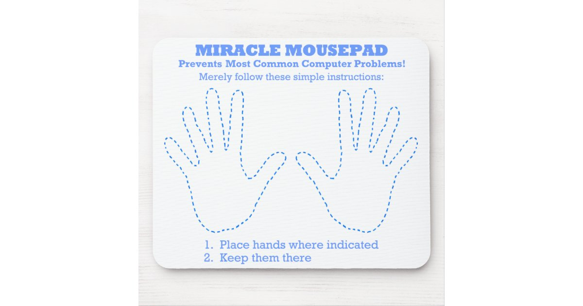 funny miracle computer mousepad zazzle