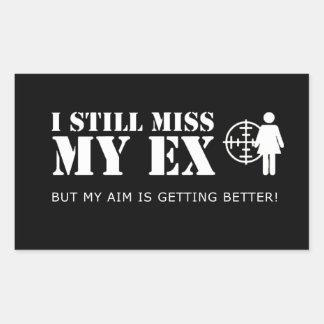 Funny Miss my Ex Rectangular Sticker