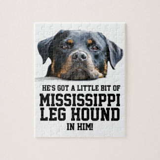 Funny Mississippi Leg Hound Rottweiler Dog Head Jigsaw Puzzle