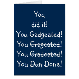 Funny Misspelling Humor Fun Graduation Wishes Card