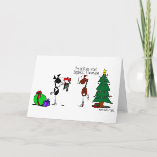 Christmas Horse Cartoon.Funny Mistletoe Horse Cartoon Card