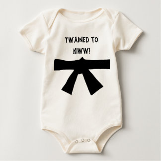 Funny Mixed Martial Arts Karate Black Belt Baby Baby Bodysuit