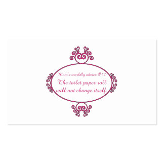 Funny mom advice on t-shirts and gifts for mom. Double-Sided standard business cards (Pack of 100)