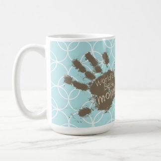 Funny Mom; Baby Blue Circles Classic White Coffee Mug