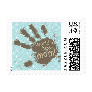 Funny Mom; Baby Blue Circles Stamp