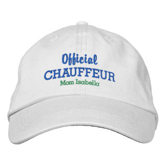 Funny Mom Hat Official Chauffeur Custom Name