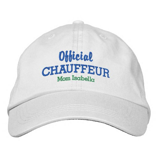 bc0cb7de027 Funny Mom Hat Official Chauffeur Custom Name