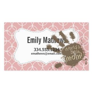 Funny Mom Mauve Circles Business Card