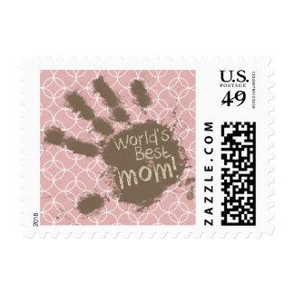 Funny Mom Mauve Circles Stamp