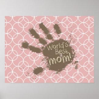 Funny Mom Mauve Circles Print