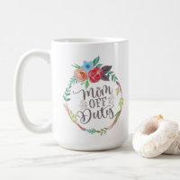 Funny Mom Off Duty Floral Wreath Coffee Mug