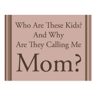 Funny Mom Postcard