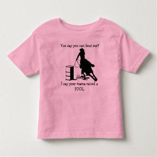 Funny Mom Raised a Fool Cowgirl Barrel Racer Shirt