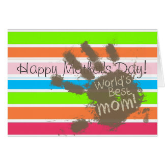 Funny Mom Retro Neon Rainbow Greeting Cards