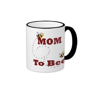 Funny Mom to Be Ringer Mug