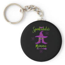 Funny Momma Halloween Spooktacular Mom Witch Hat Keychain