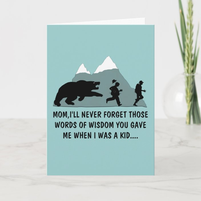 Swell Funny Moms Birthday Card Zazzle Com Personalised Birthday Cards Veneteletsinfo