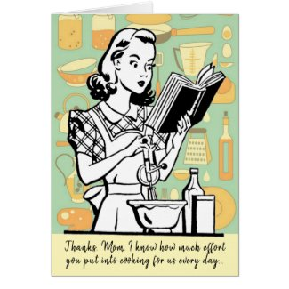 Funny Mom's Cooking Custom Mother's Day Card