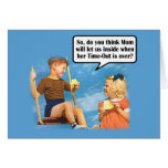 Funny Mom's Time-Out Card