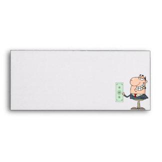 funny money hungry rich businessman cartoon envelopes