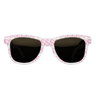 a60381b596da Funny Money Pink Dollar Sign Print Sunglasses