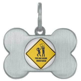 Funny Monitored Pet Tags