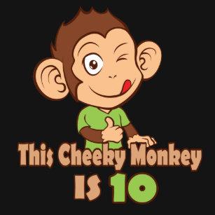 Funny Monkey 10 Year Old Birthday T Shirt