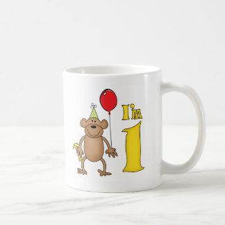Funny Monkey 1st Birthday Mugs