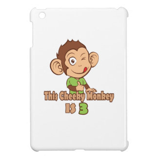 Funny Monkey 3 year old birthday Cover For The iPad Mini