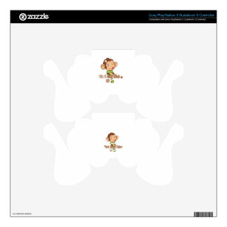 Funny Monkey 3 year old birthday PS3 Controller Skins