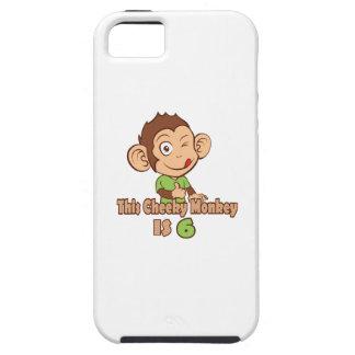 Funny Monkey 6 year old birthday iPhone SE/5/5s Case