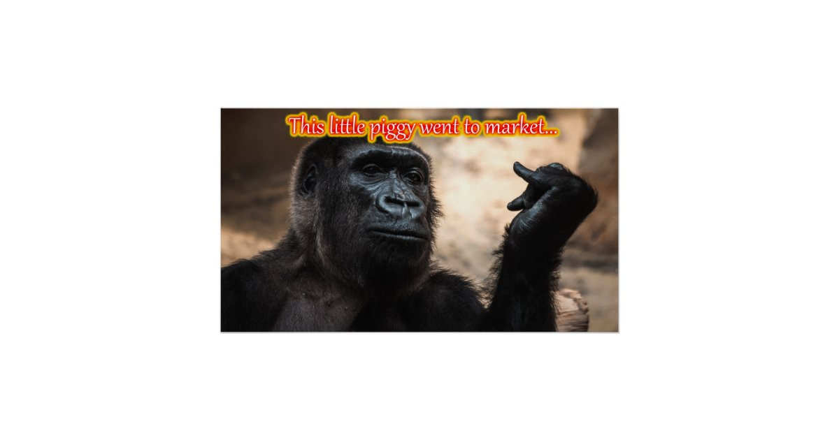Funny Monkey Ape Chimp Memes With Funny Sayings Poster Zazzle Com
