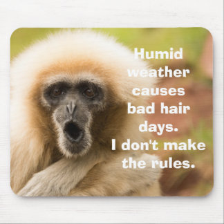 Funny Monkey Bad Hair Day Mouse Pad