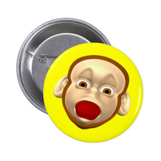 Funny Monkey Birthday Button