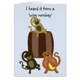 Funny Monkey Birthday Card