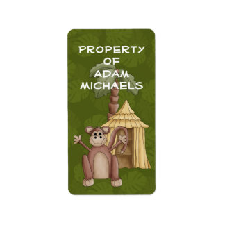 Funny Monkey Bookplate Label