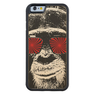 Funny monkey carved® maple iPhone 6 bumper case