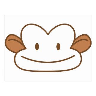 funny monkey face postcard