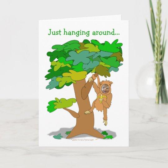 funny monkey in a tree custom photo face template zazzle com