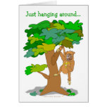 Funny Monkey in a Tree Custom Photo Face Template Greeting Card