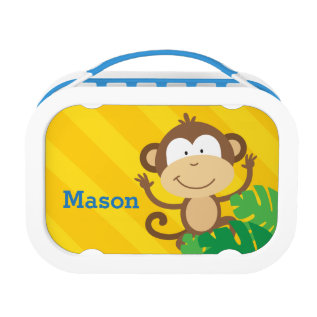 Funny Monkey In The Jungle Lunchbox at Zazzle