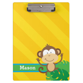 Funny Monkey in the Jungle Personalized Clipboard